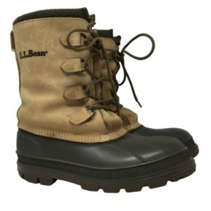 L.L. Bean Mens Pac Boots Insulated Leather Size 9